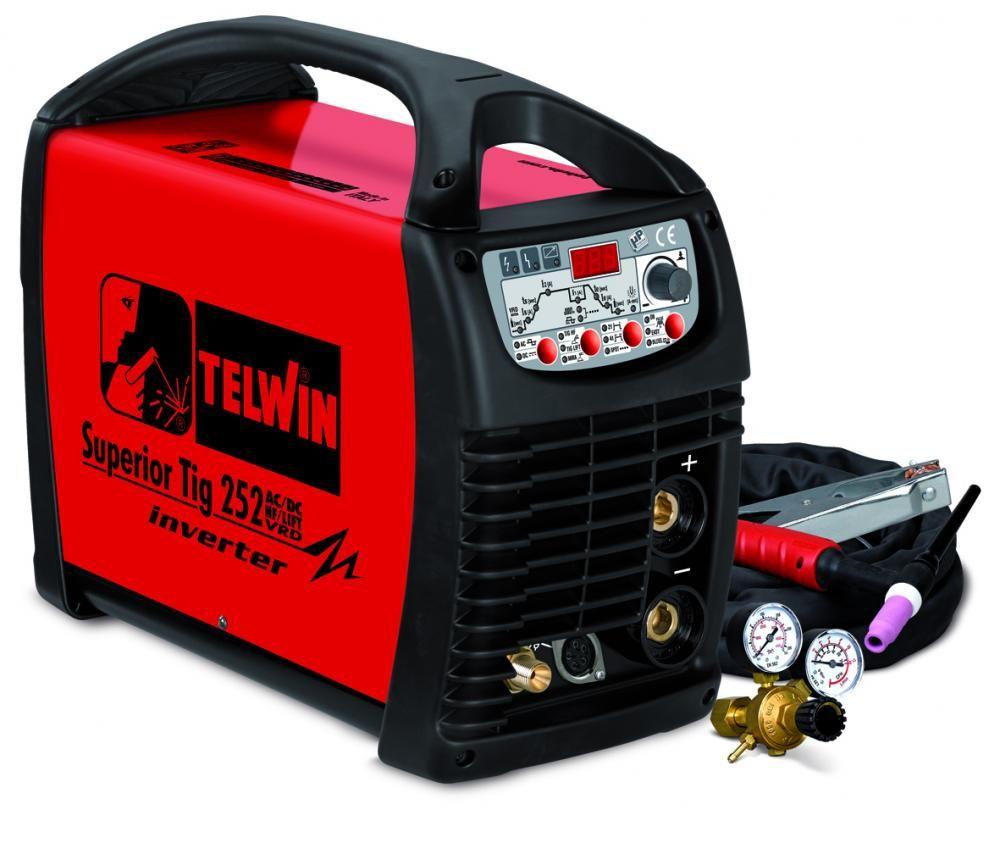 Telwin SUPERIOR TIG 252AC/DC HF/LIFT VRD 400V с аксессуарами
