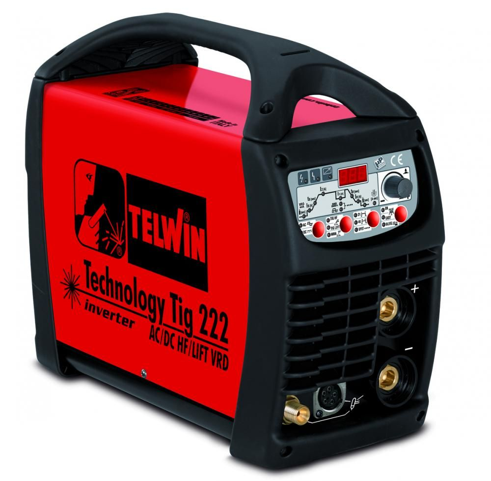 Telwin TECHNOLOGY T.222 AC/DC HF/LIFT 230V с аксессуарами