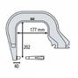 Gys Плечо типа С (С8): C clamp для INVERTER 125, DC, BP, PTI